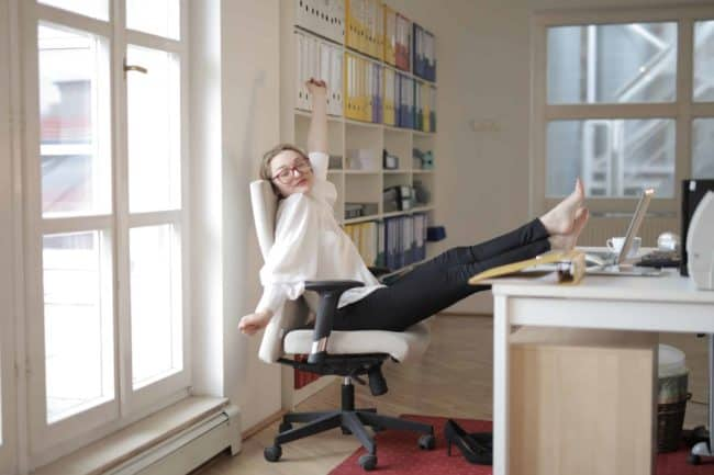 stretching for stress relief at work and home