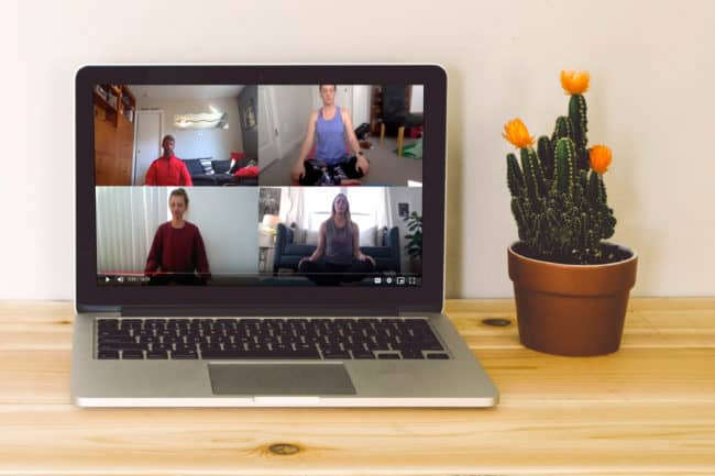 Virtual yoga solves challenges or working remotely
